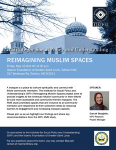 Reimagining Muslim Spaces St Louis event flyer