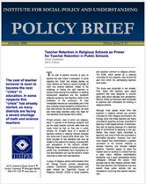 Teacher Retention in Religious Schools brief cover