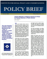 Teacher Retention in Religious Schools brief cover