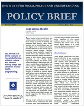 Iraqi Mental Health brief cover
