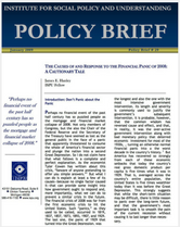 Causes of and Response to the Financial Panic of 2008 brief cover