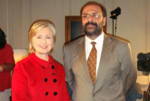 Secretary Hillary Clinton and Hassan Abbas
