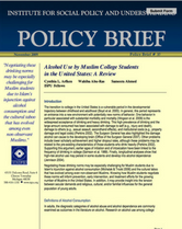 Alcohol Use by Muslim College Students in the US brief cover