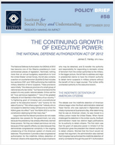 The Continuing Growth of Executive Power brief cover