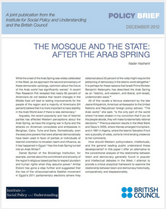 Mosque and the State policy brief cover