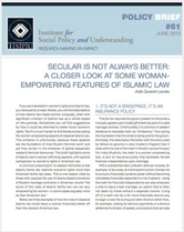 Secular Is Not Always Better policy brief cover