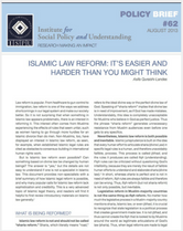 Islamic Law Reform policy brief cover