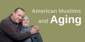 A man hugging his elderly Muslim mother