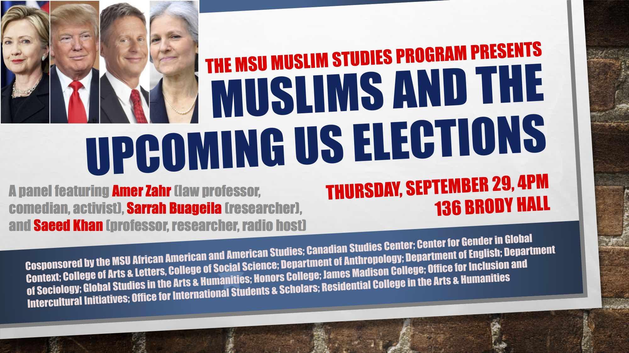 Muslim Studies Elections Panel 2016