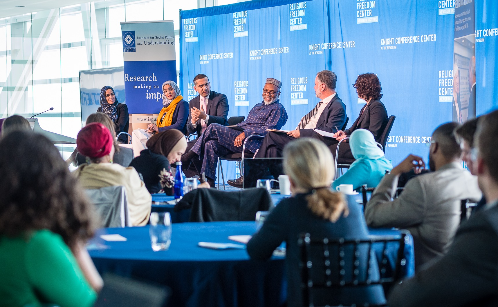 The Institute for Social Policy and Understanding and the Religious Freedom Center of the Newseum Institute presented, American Muslims at the Crossroads, on Tuesday, March 21, 2017 at The Newseum in Washington, DC. Photo by Tim Lundin | TDLphoto.com