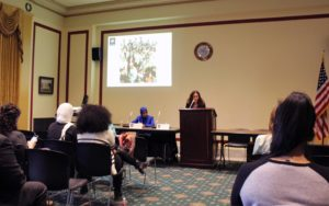 ISPU Executive Director Meira Neggaz and Director of Research Dalia Mogahed present at the State Department