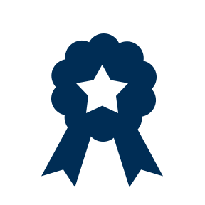 award ribbon with a star in the center