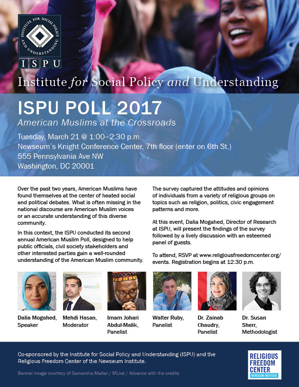 ISPU Poll 2017: American Muslims at the Crossroads flyer
