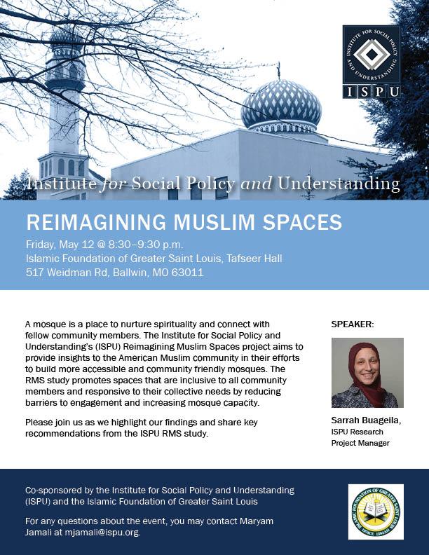 Reimagining Muslim Spaces St Louis event flyer