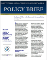 Institutional Failure in the Response to Hurricane Katrina brief cover
