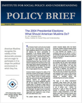 The 2004 Presidential Elections brief cover