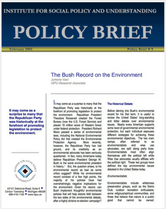 The Bush Record on the Environment brief cover