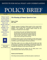 The Meaning of Obama's Cairo Speech brief cover