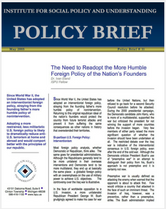 The Need to Readopt the More Humble Foreign Policy of the Nations Founders brief cover