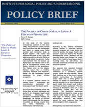The Politics of Chaos in Muslim Lands brief cover
