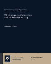 US Strategy in Afghanistan and Its Relations to Iraq testimony cover