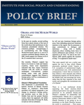 Obama and the Muslim World policy brief cover