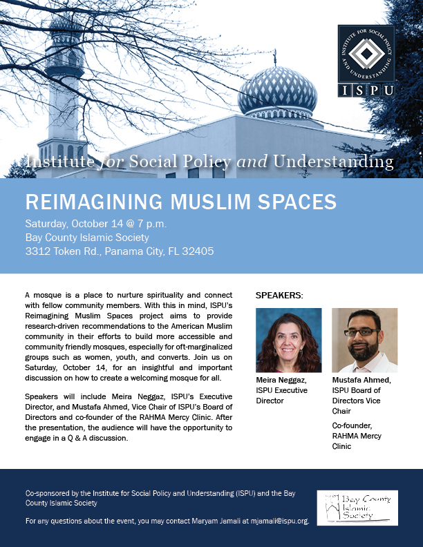 Reimagining Muslim Spaces Florida event flyer