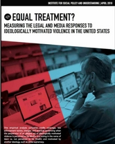 Equal Treatment executive summary cover- A man stares at a computer screen showing a news site