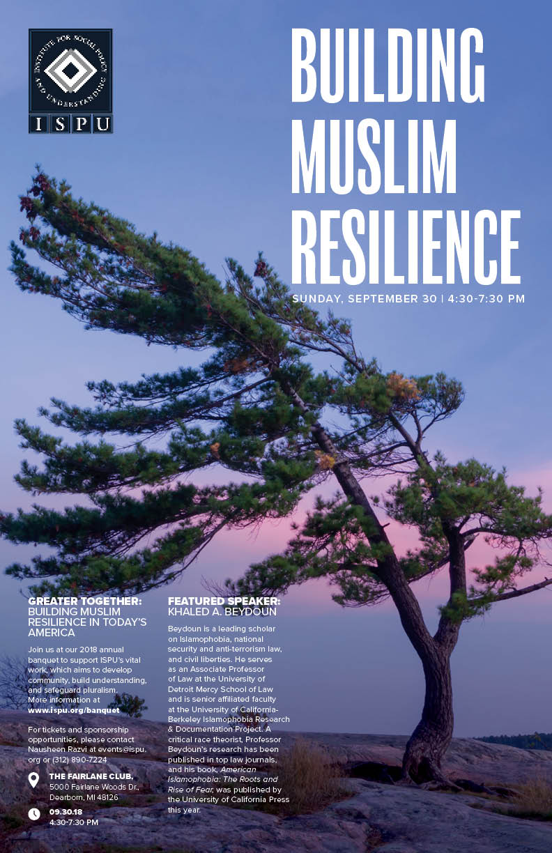 Building Muslim Resilience event poster