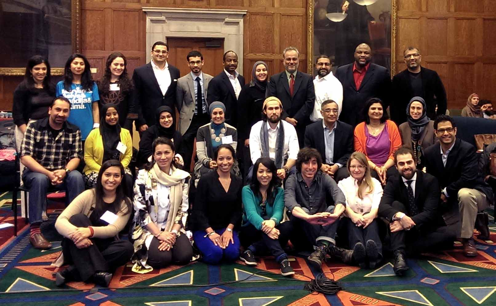 Attendees of the (Re)presenting American Muslim workshop