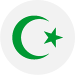 A green star and crescent