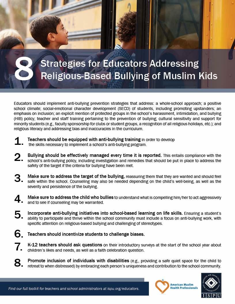 8 strategies for educators flyer