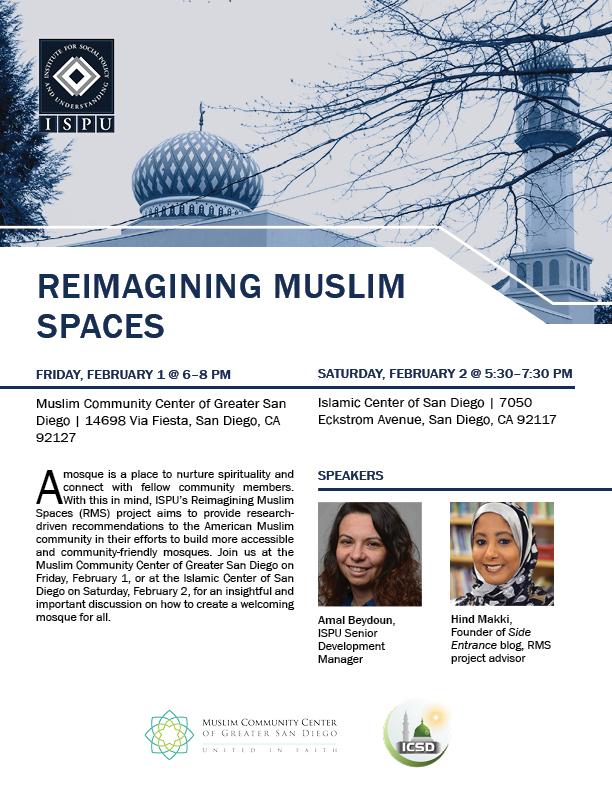 Reimagining Muslim Spaces event flyer