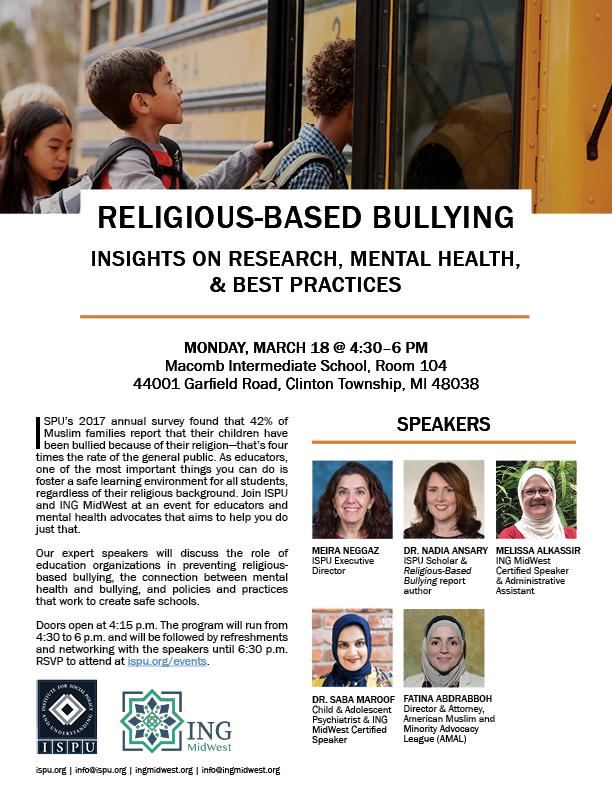 Religious-Based Bullying event flyer