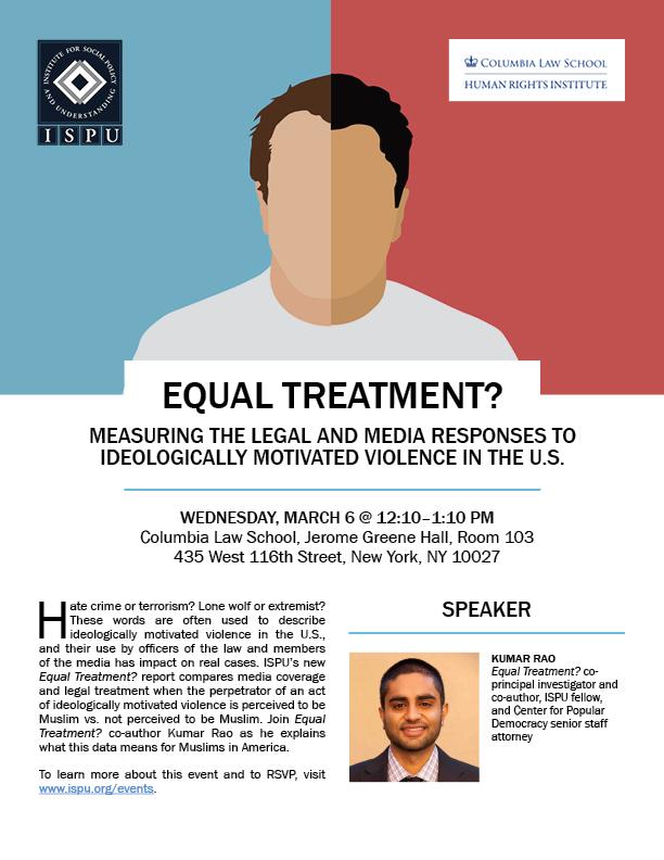 Equal Treatment Columbia Law School flyer