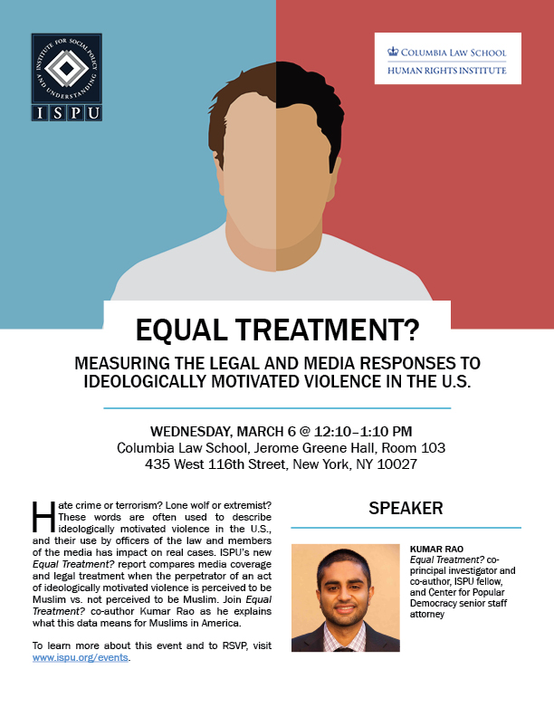 Equal Treatment Columbia Law School flyer