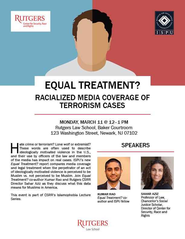 Equal Treatment Rutgers event flyer