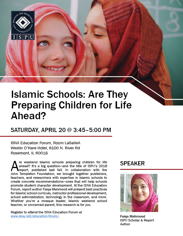 ISNA Education Forum event flyer