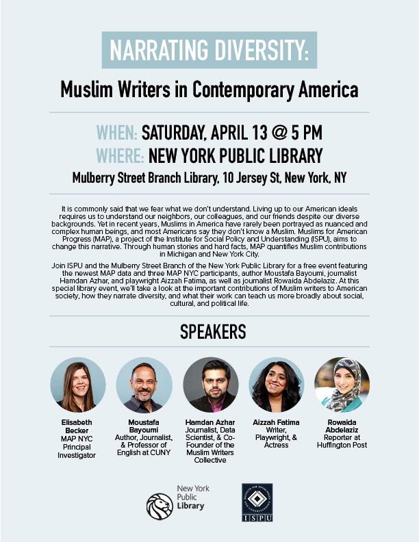 Narrating Diversity event flyer