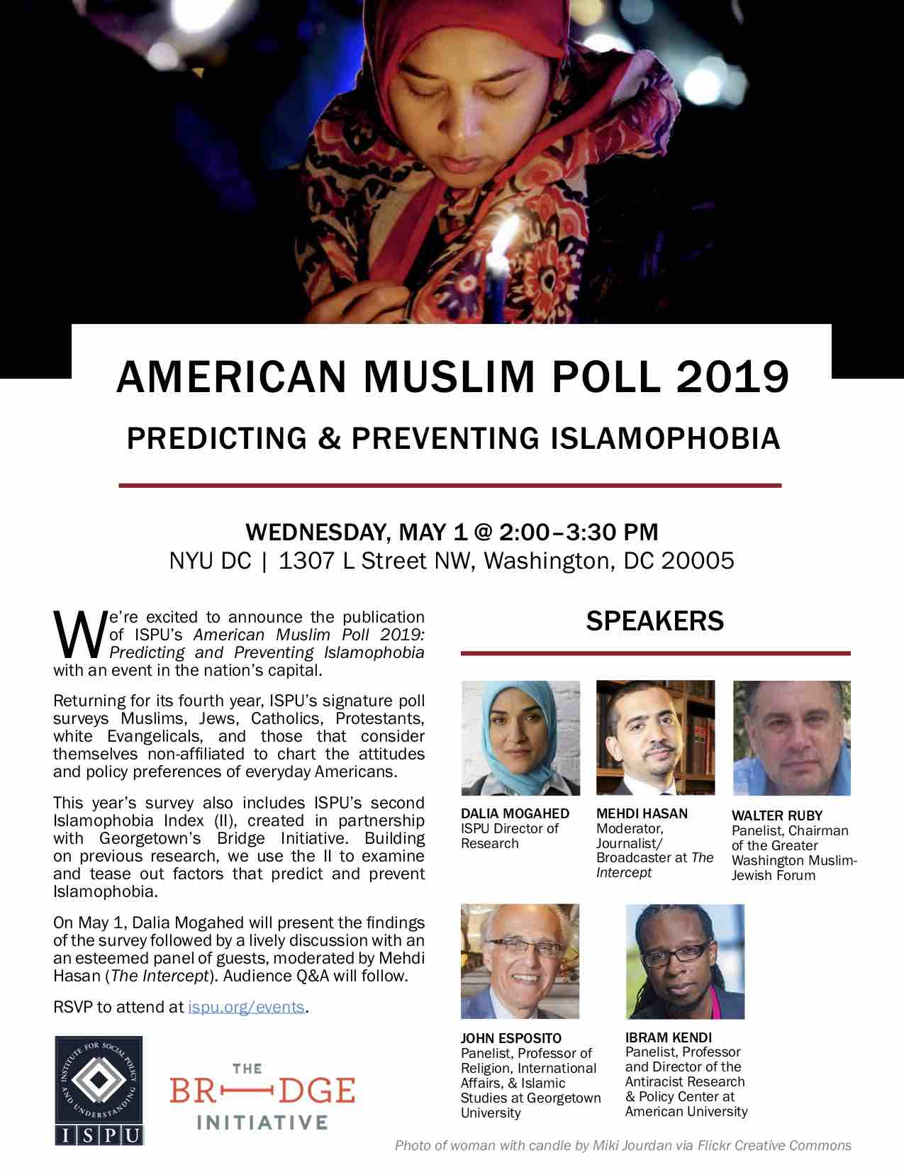 American Muslim Poll 2019 Launch Event flyer