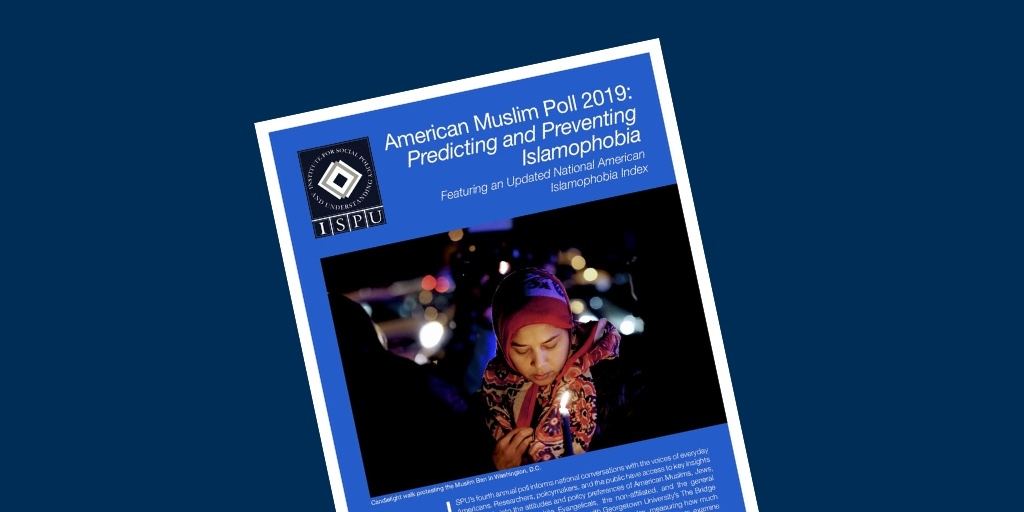 The cover of the American Muslim Poll 2019 report