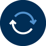 two arrows showing a feedback loop