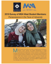 2019 survey of MSA West student members report cover