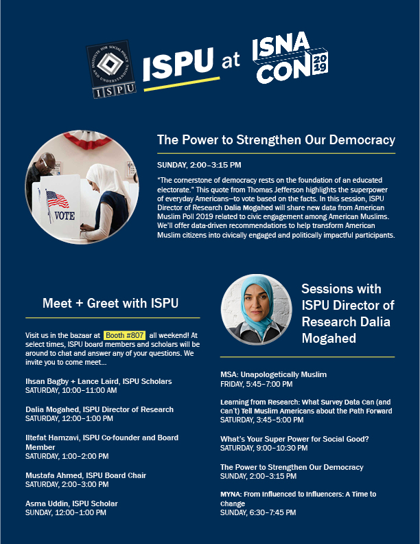 ISPU at ISNA 2019 flyer