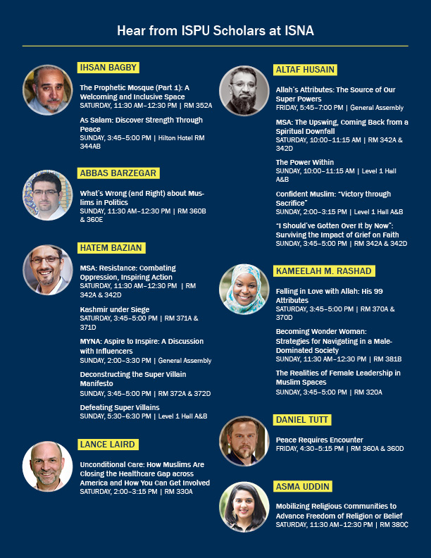 ISPU Scholars at ISNA 2019 flyer