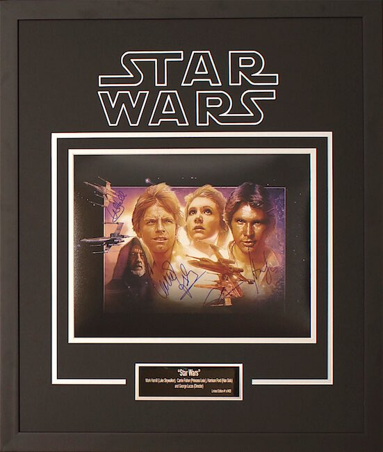 Signed Star Wars poster
