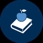 An apple atop a book