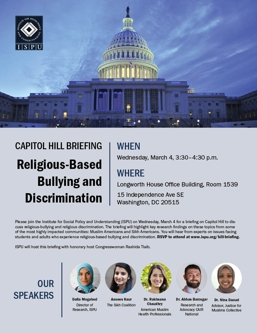 Capitol Hill briefing flyer