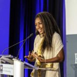 Karen Attiah speaking at ISPU's annual banquet