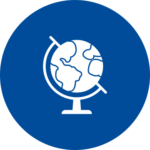 An icon of a globe